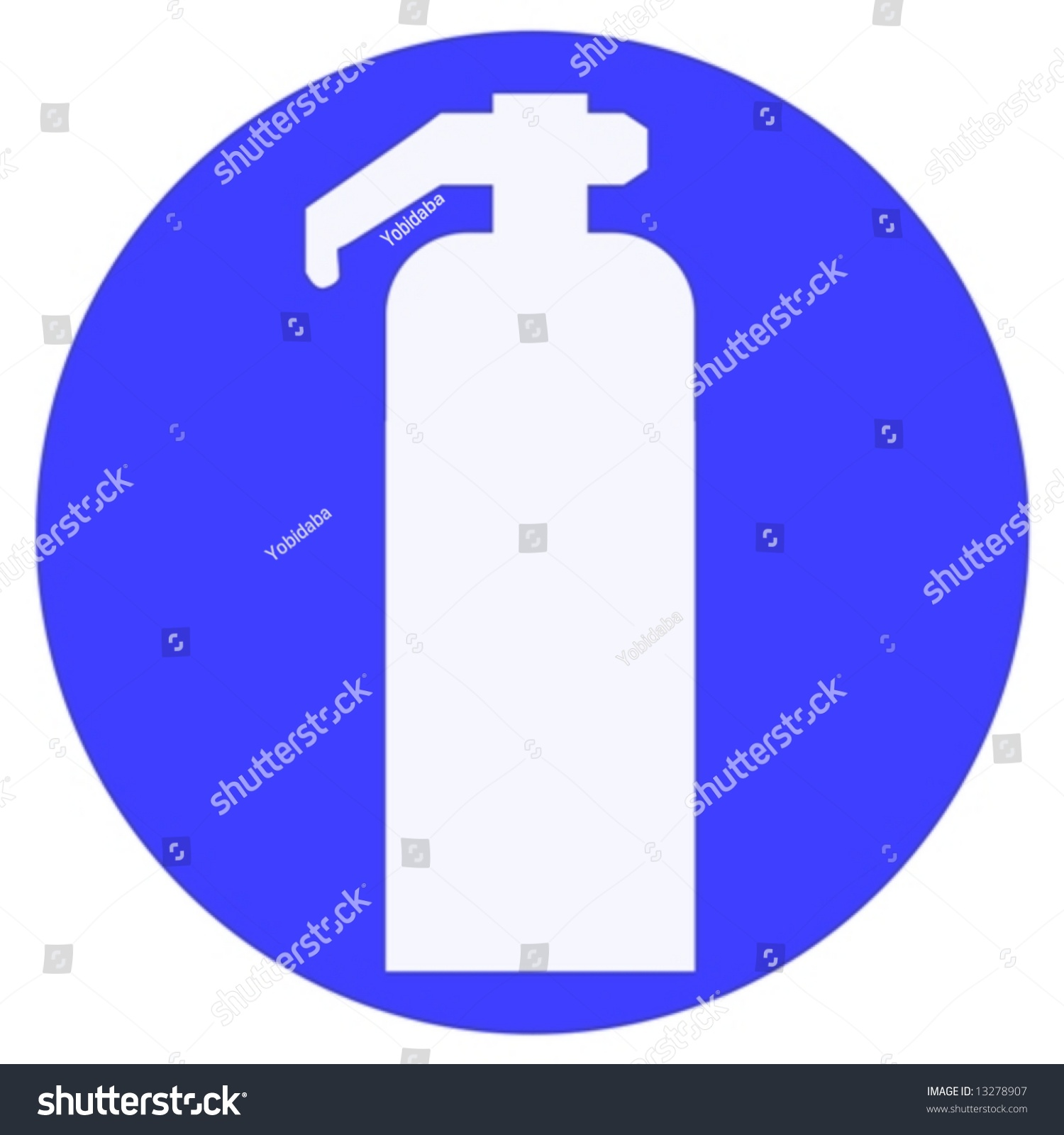 fire extinguisher sign stock vector illustration 13278907