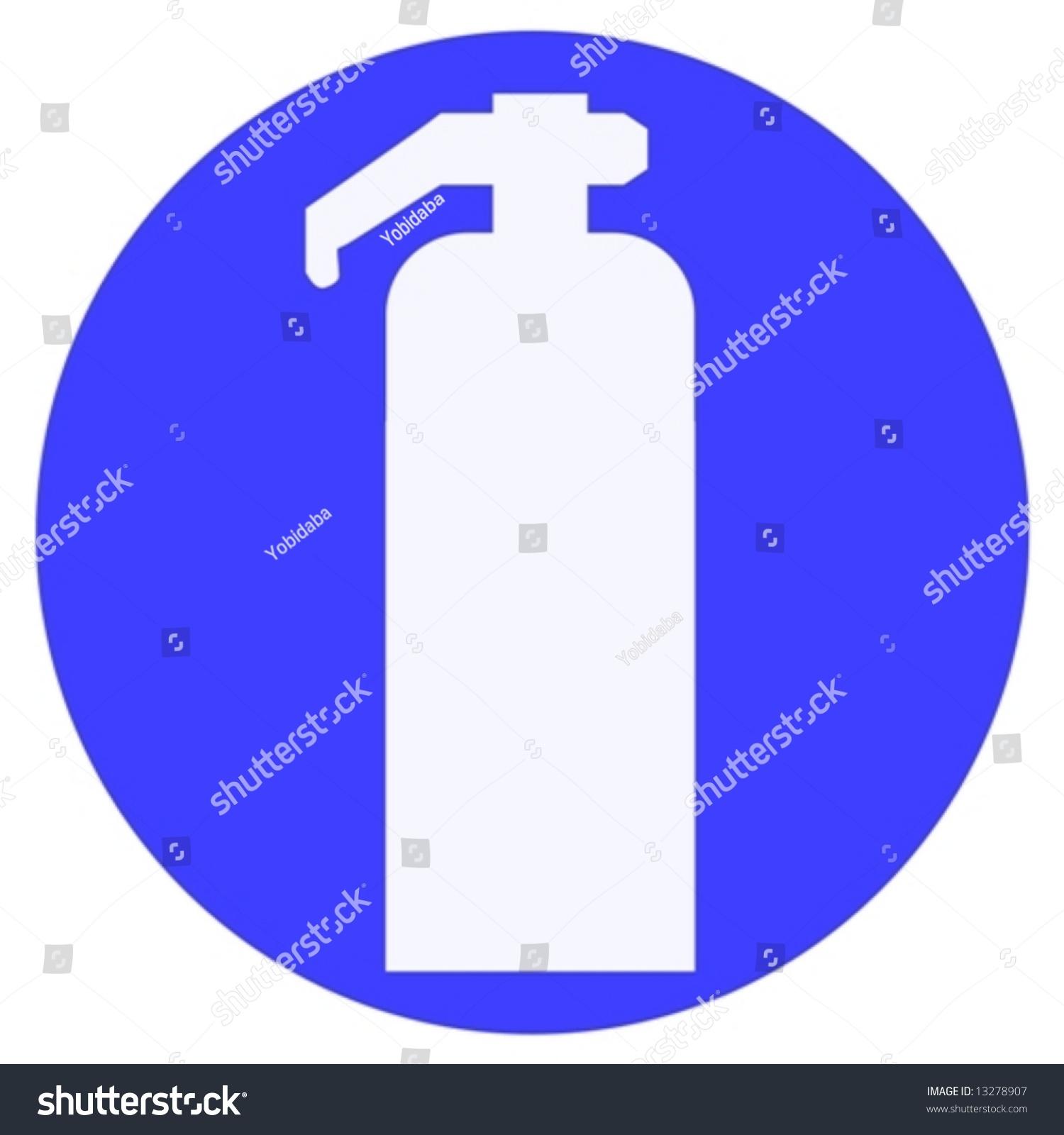 fire extinguisher sign stock vector illustration 13278907