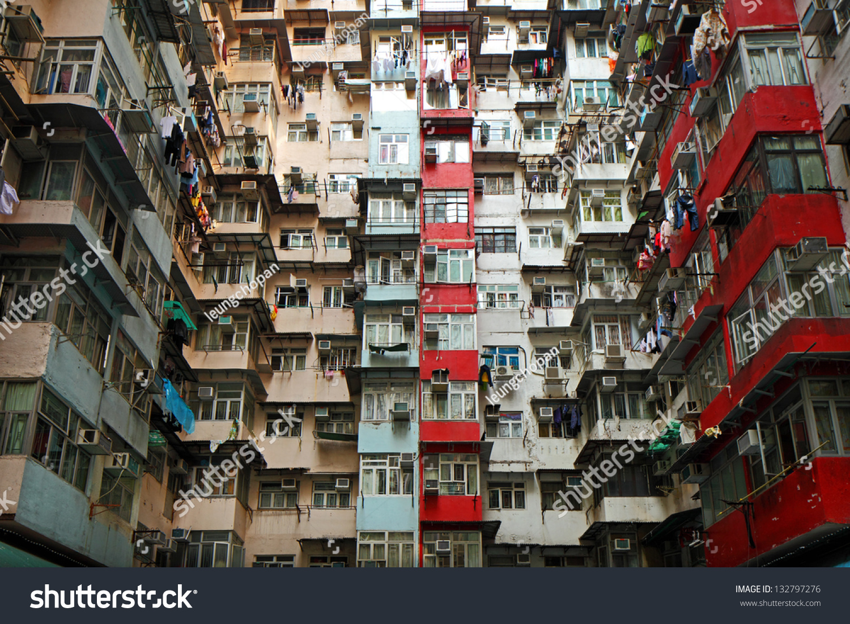 Old Apartments In Hong Kong Stock Photo 132797276 ...