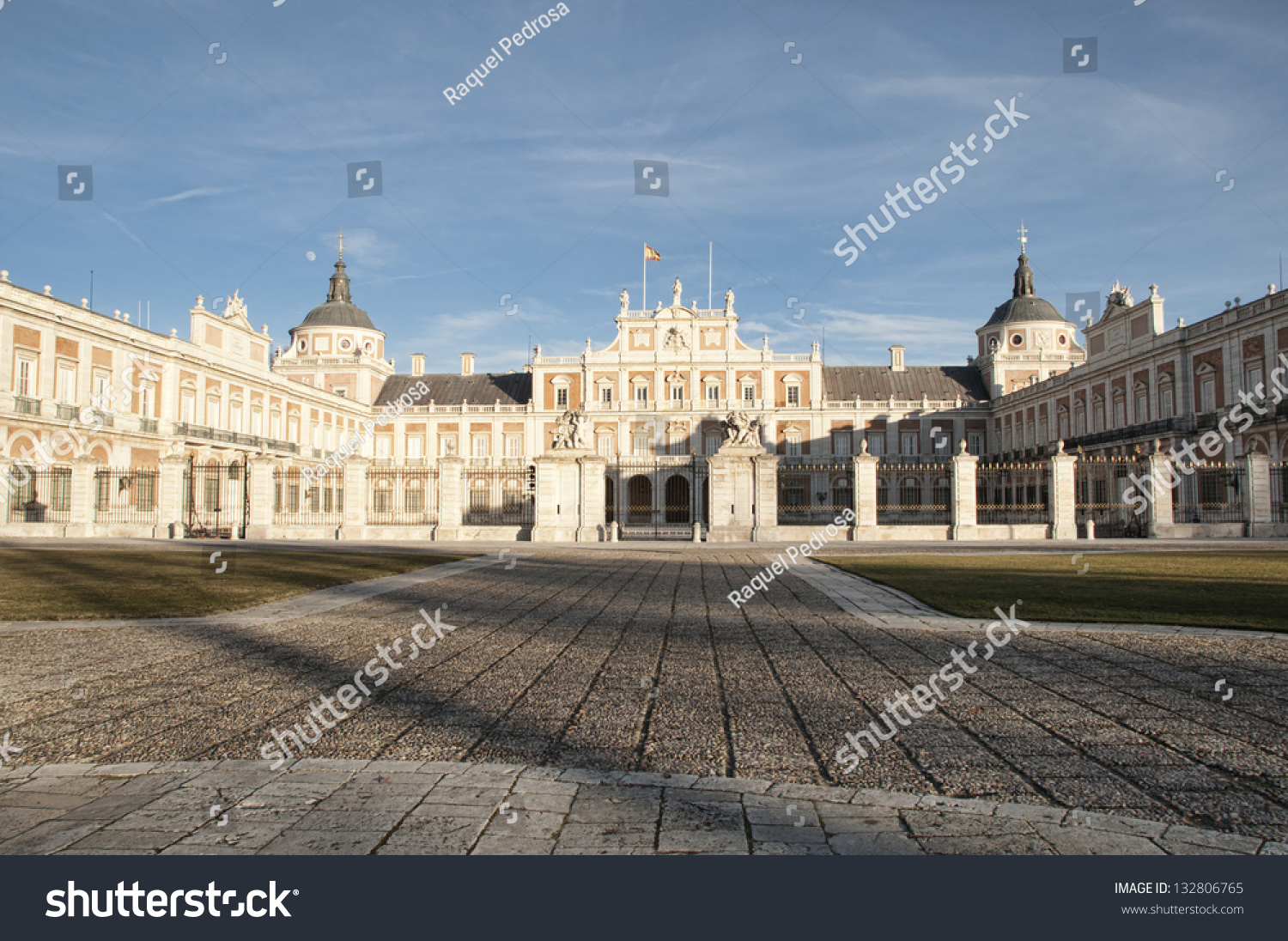 Great View Of The Royal Palace Of Aranjuez, Madrid Spain ...