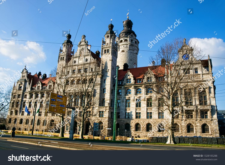 New Town Hall Leipzig Stock Photo Edit Now 1328105288