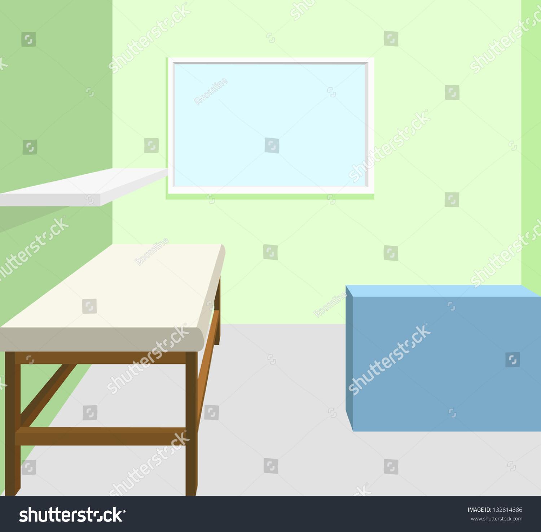 Empty Room Treatment Ideal Interior Design Stock Vector