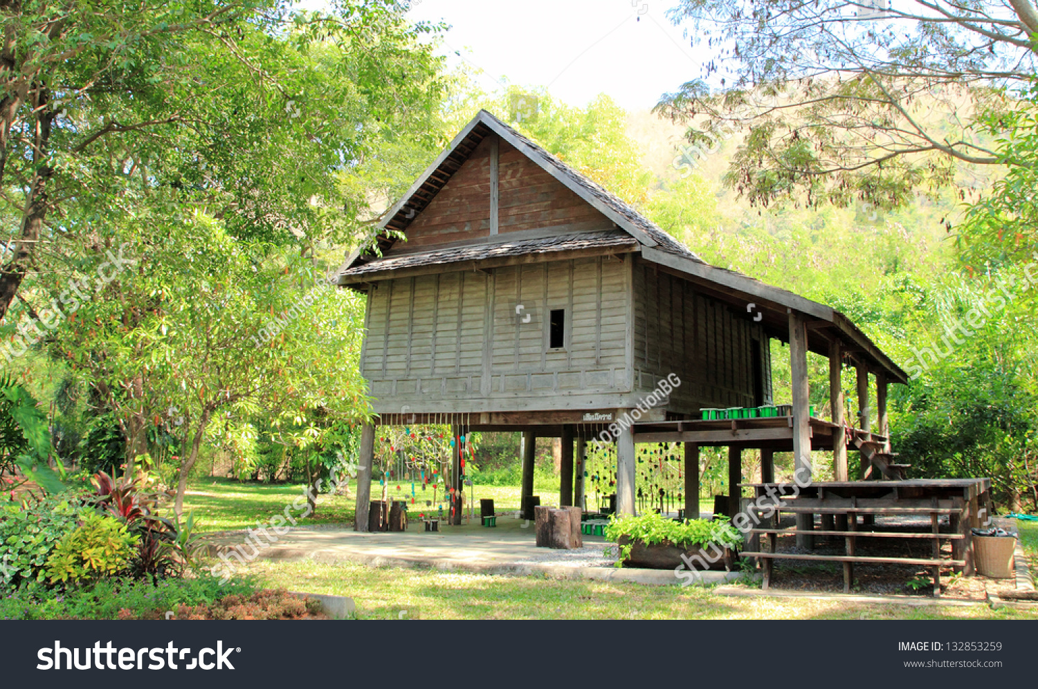 Thai House Old Style Stock Photo 132853259 Shutterstock