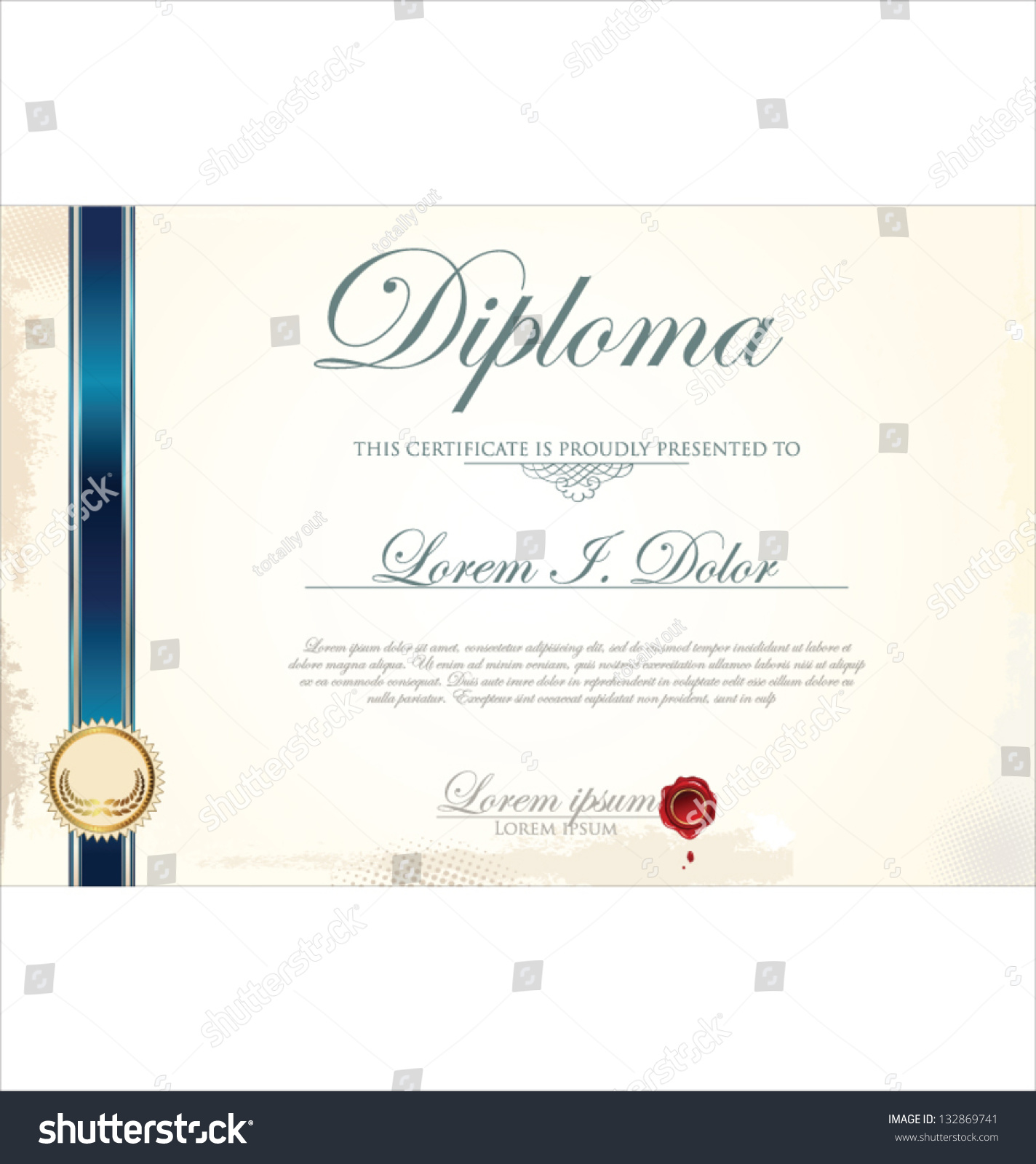 certificate template stock vector 132869741 shutterstock certificate template