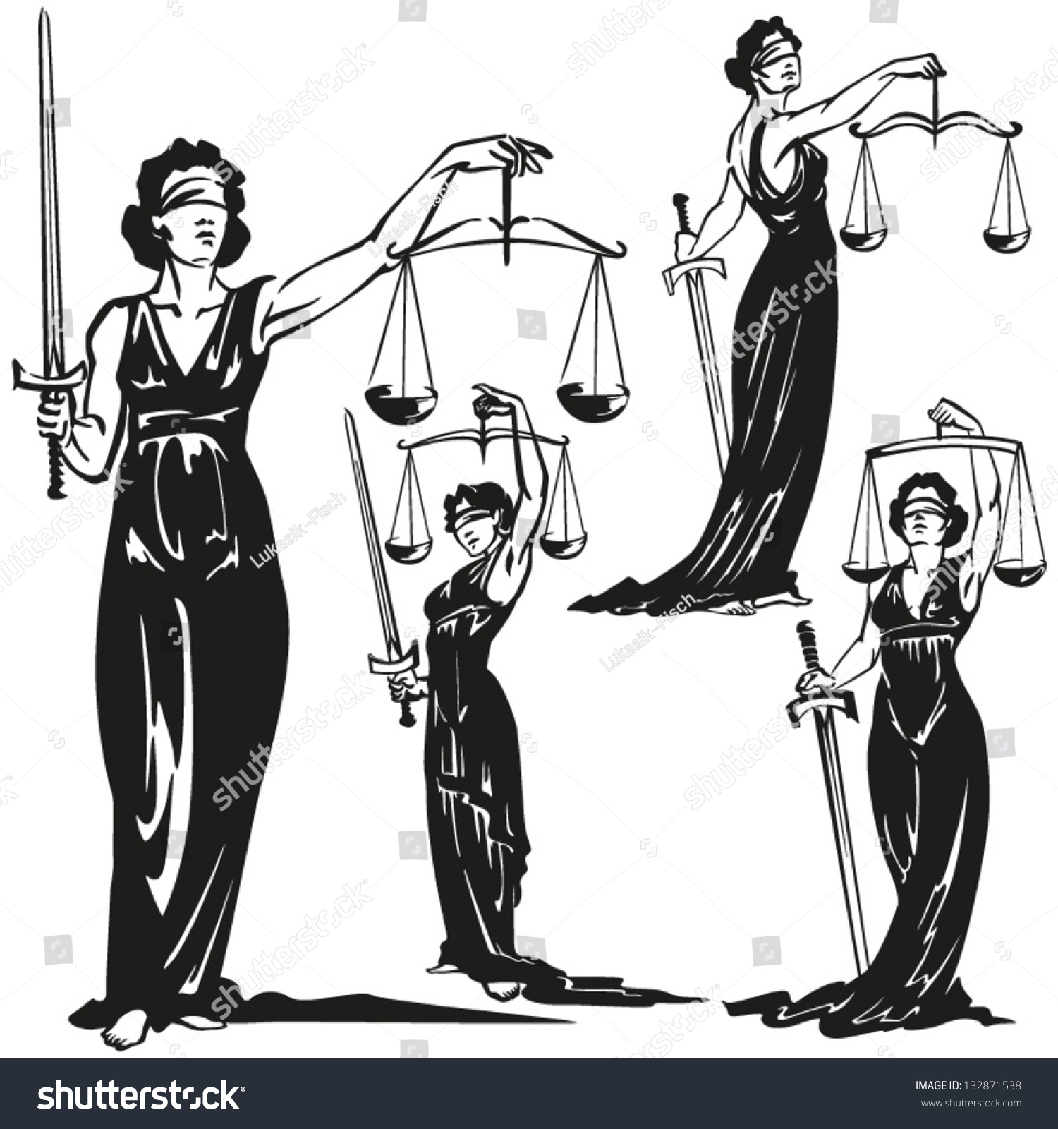 lady justice statue drawing - photo #39