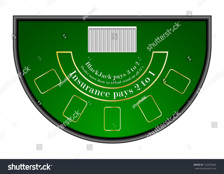 Wooden roulette buy black wooden roulette blackjack table led - Detailed Illustration Of A Black Jack Gambling Table Eps10 Vector