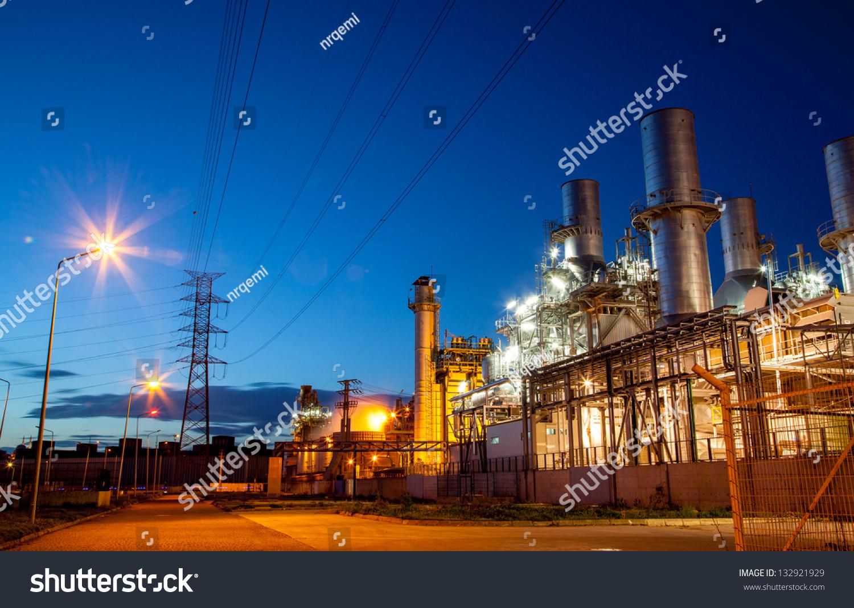 Twilight photo of power plant #132921929