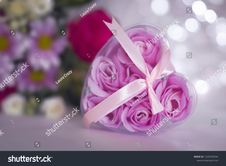 Floral Festive Background Template Bouquet Flowers Stock Photo Edit Now 1329259544