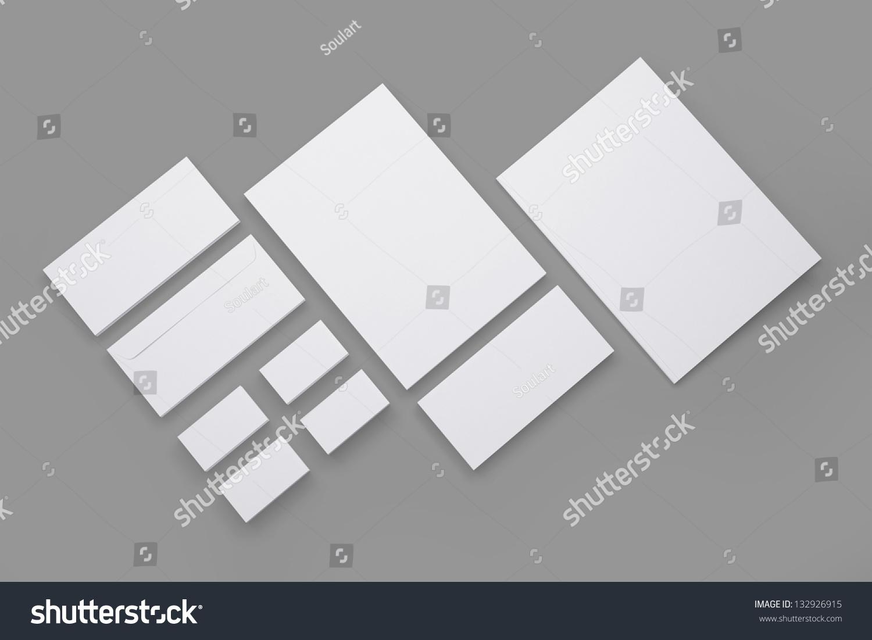 Blank Envelopes Business Card Documents Folder Stock Illustration ...
