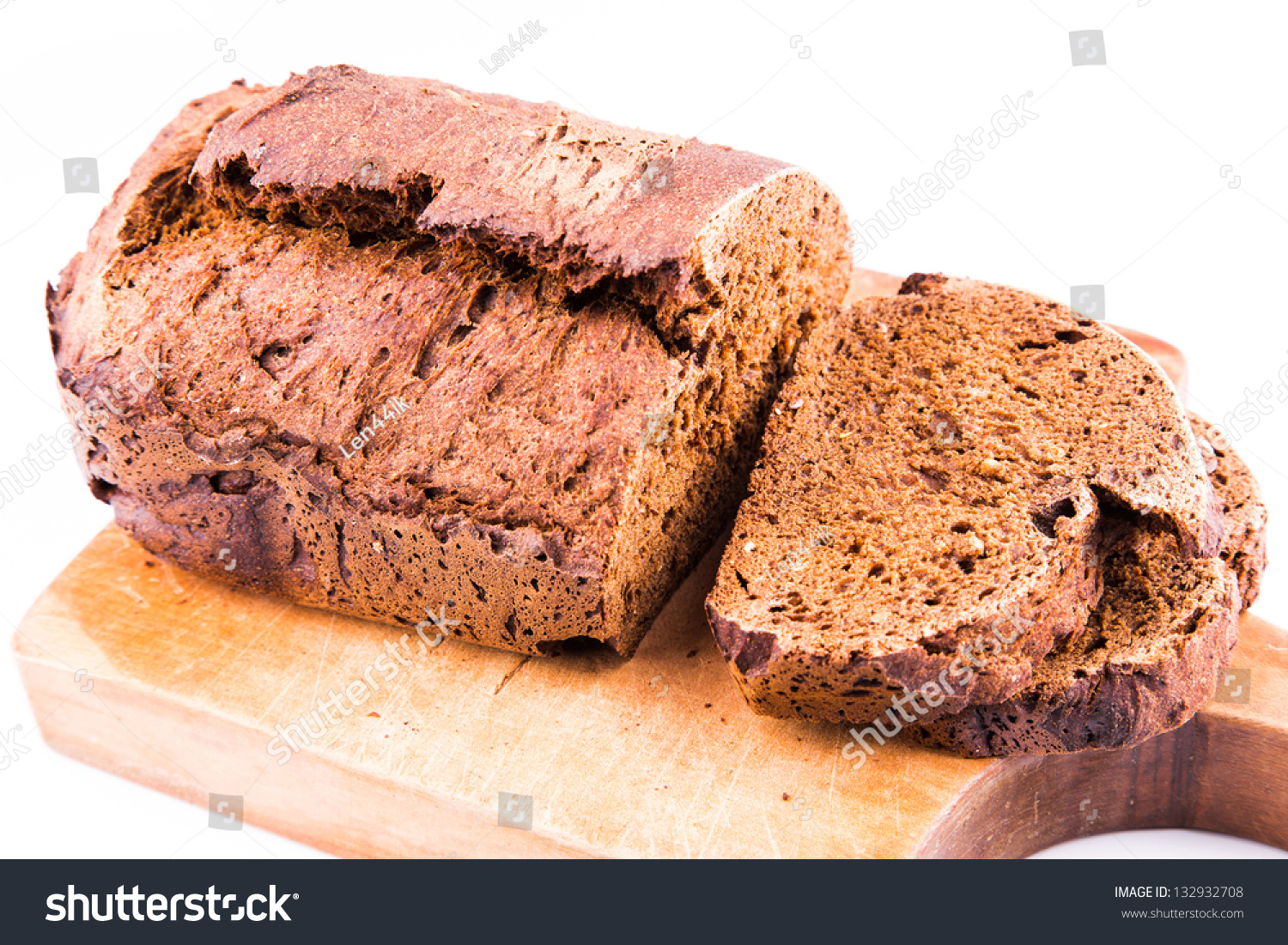 Fresh Sliced Homemade Whole Grain Brown Bread With Cereals ...