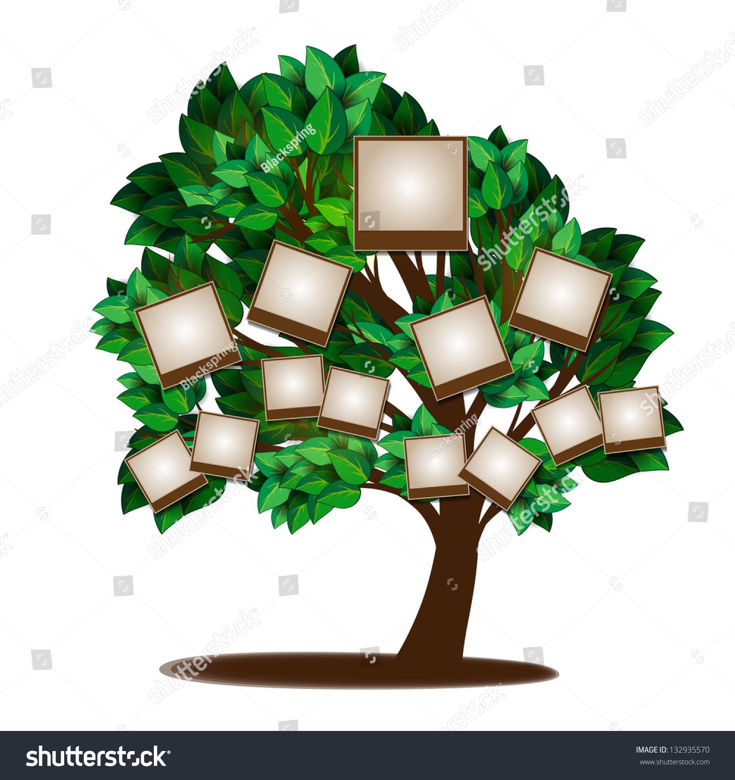 Family Tree Design Template Stock Illustration 132935570 Shutterstock