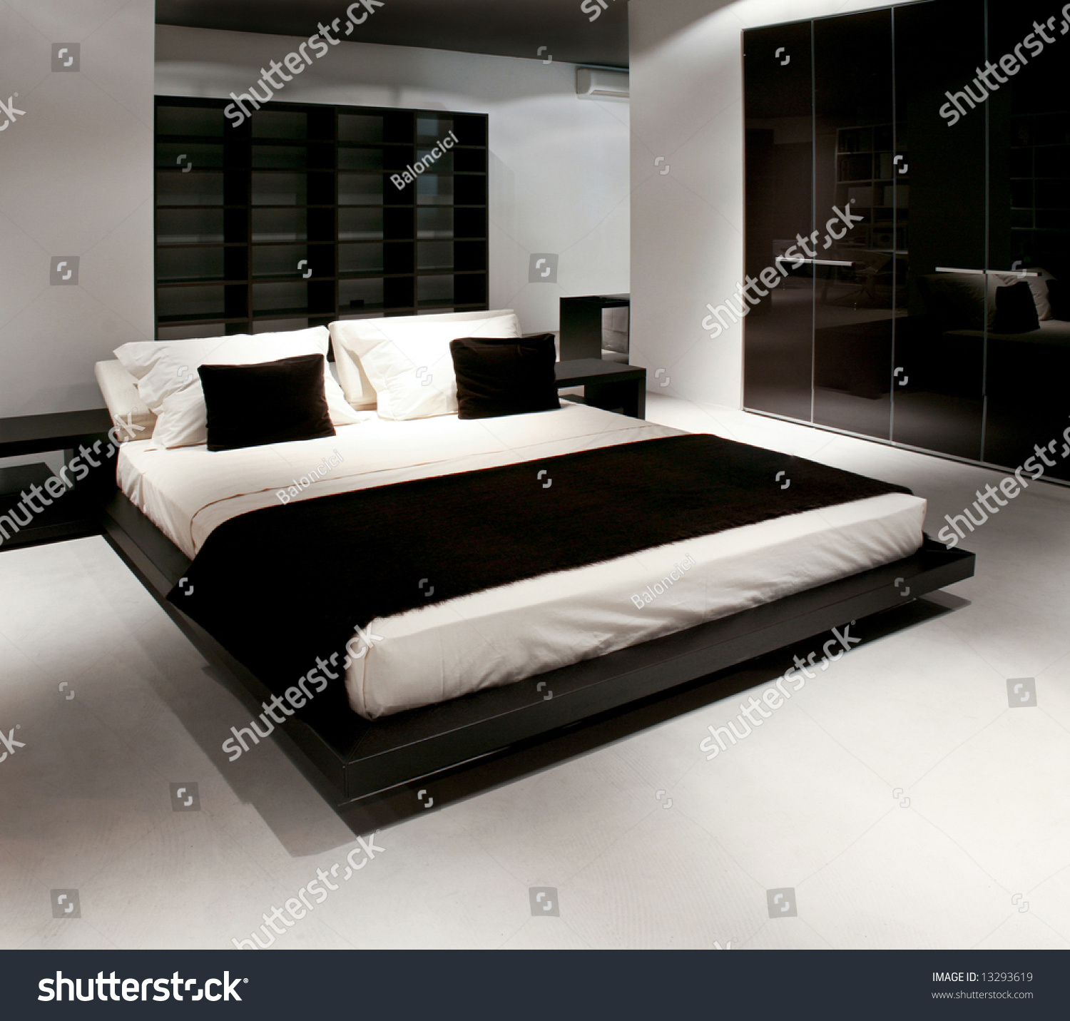Double Bed And Wardrobe In Big Bedroom