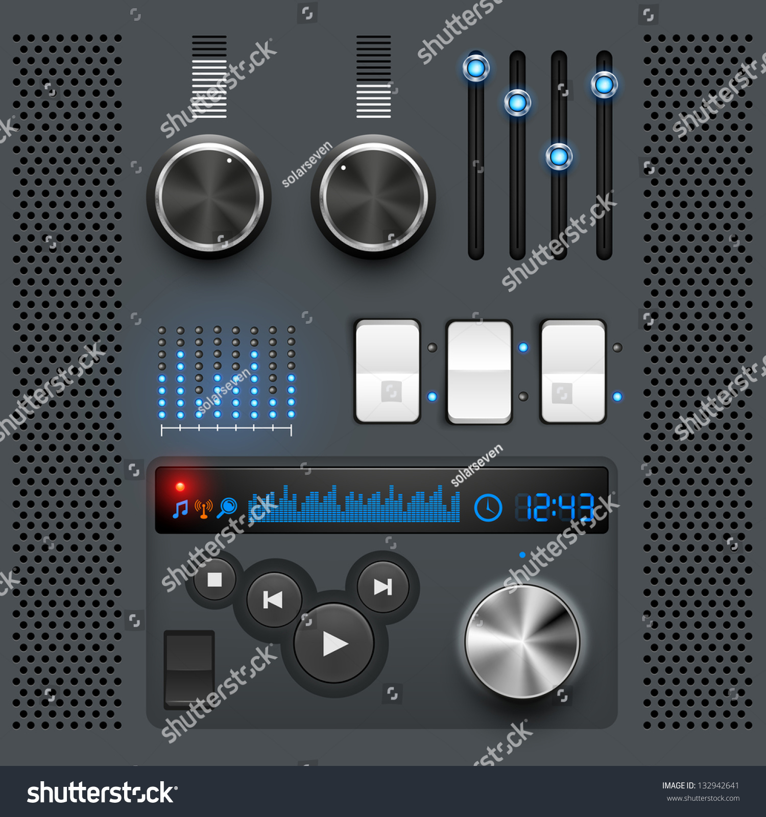 Gui. User Interface Graphic Design Elements. Stock Vector ...