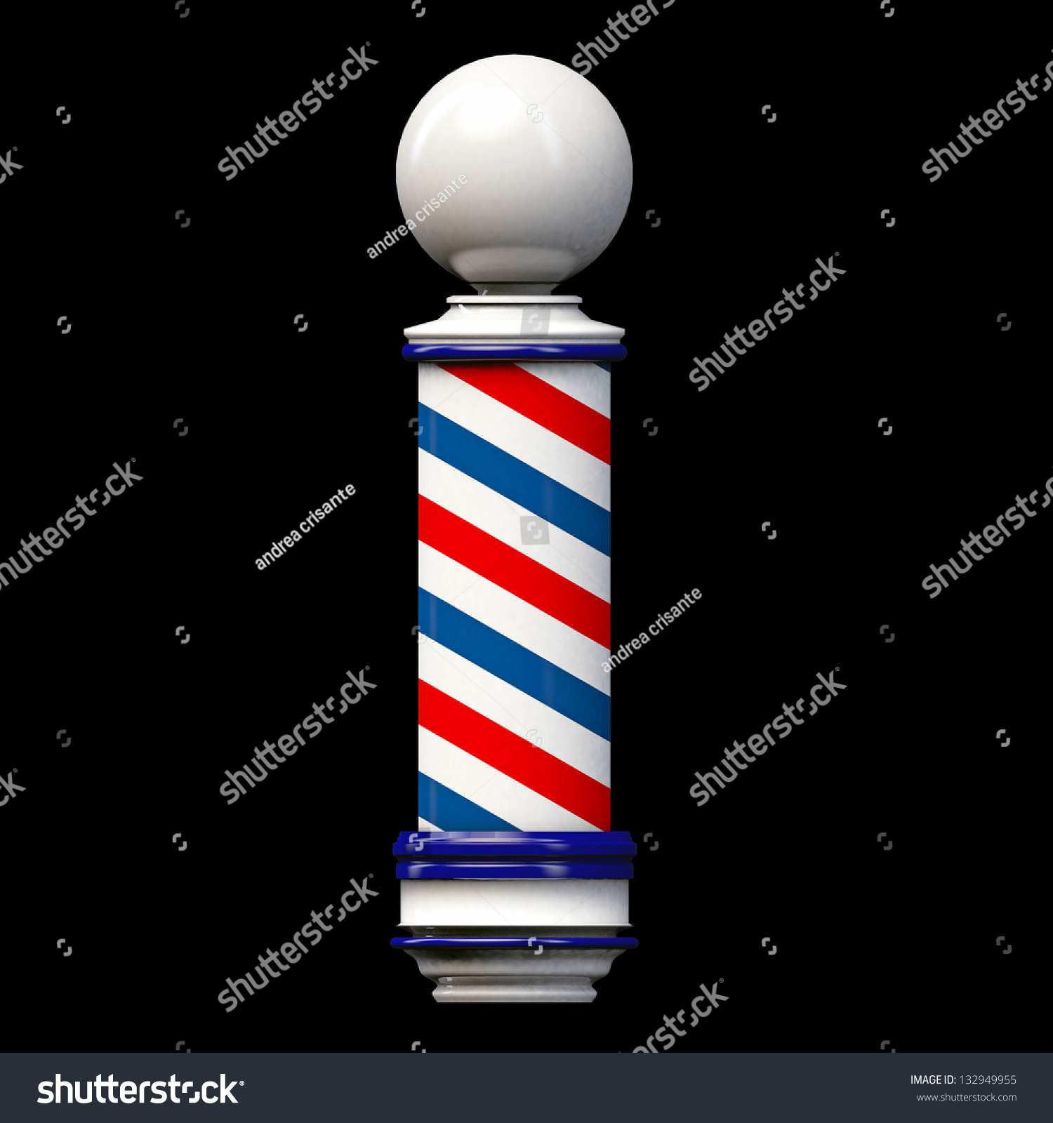 Barber Background : Old Barber Pole Sign Isolated On Black Background Stock Photo ...