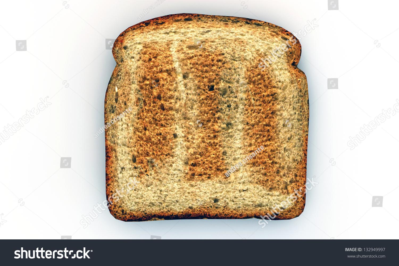 slice toast isolated on white background stock illustration
