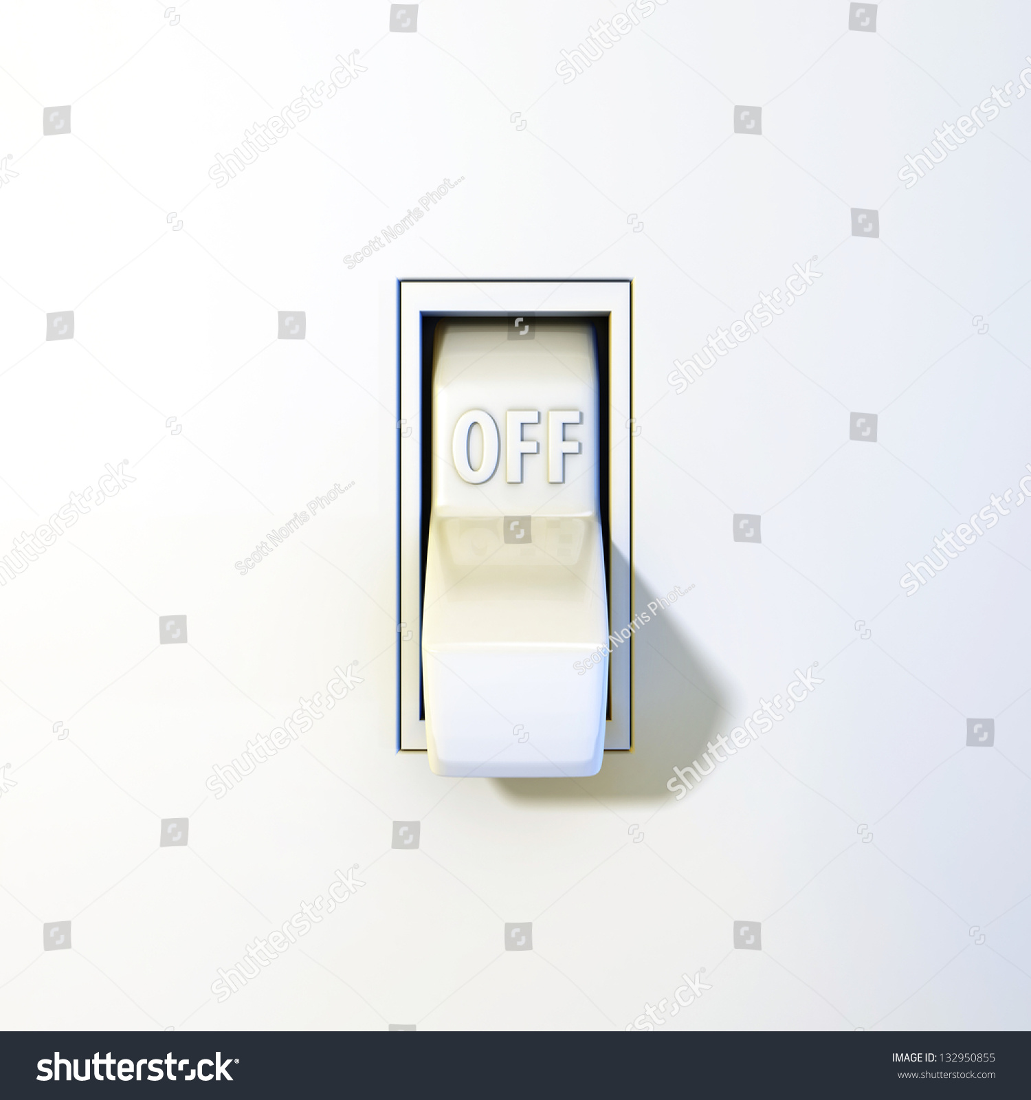 Close Wall Light Switch Off Position Stock Illustration 132950855 ... for Light Switch Off Position  177nar
