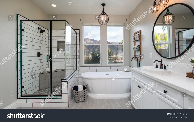 Modern Chic Bathroom Stock Photo (Edit Now) 5