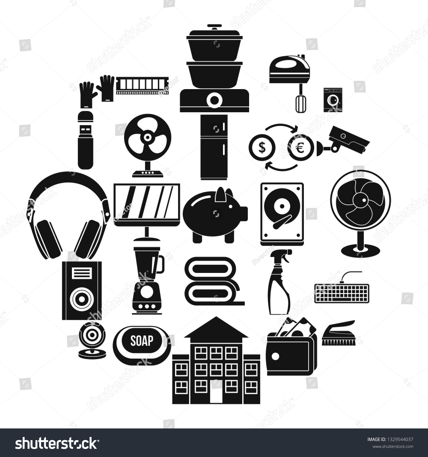 Computer App Icons Set Simple Set Stock Vector (Royalty Free