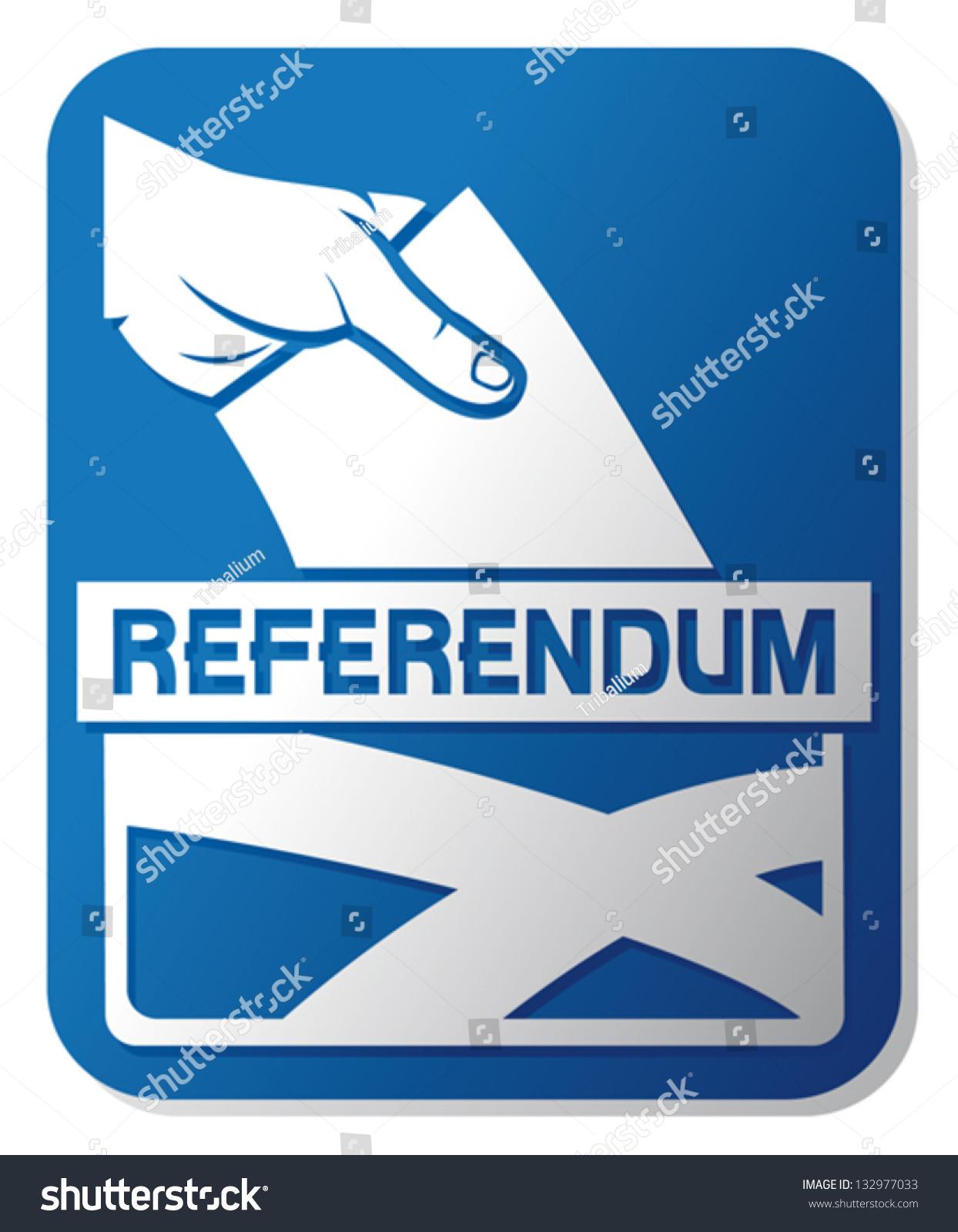 scottish independence referendum illustration ballot box stock