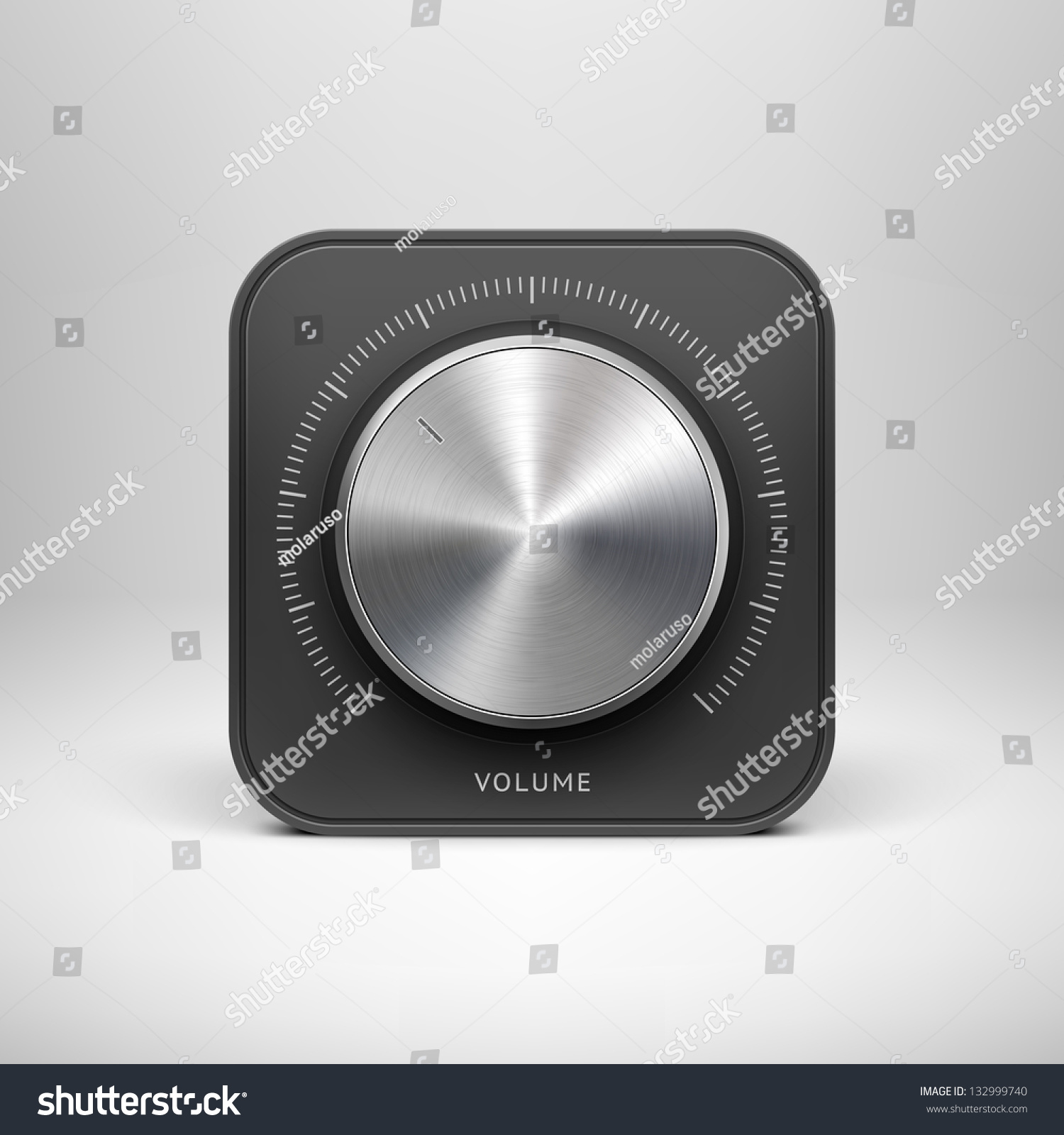 Volume Control Button : Abstract technology app icon with music button volume