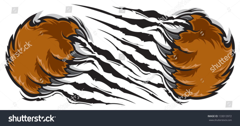 Tiger scratch tattoo designs - Bear Claw Scratch Logo Bear Claw Stock Vector Illustration 133013972