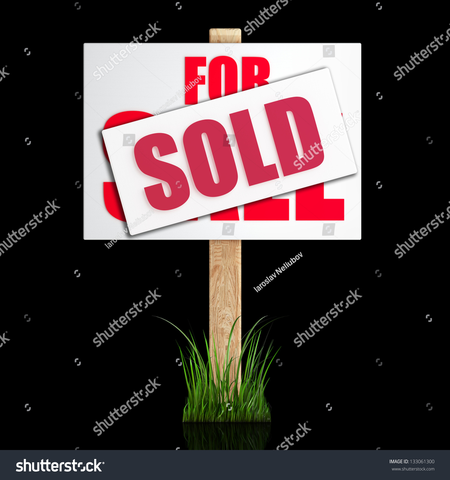 For Sale Sold Sign: Sale Sold Sign Isolated On Black Stock Illustration