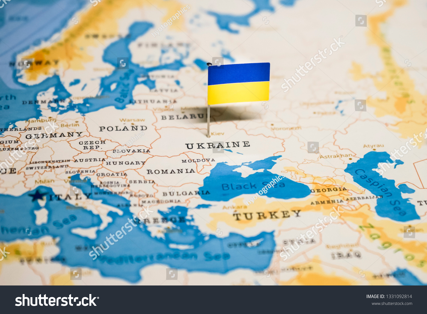 Picture of: Flag Ukraine World Map Stock Photo Edit Now 1331092814