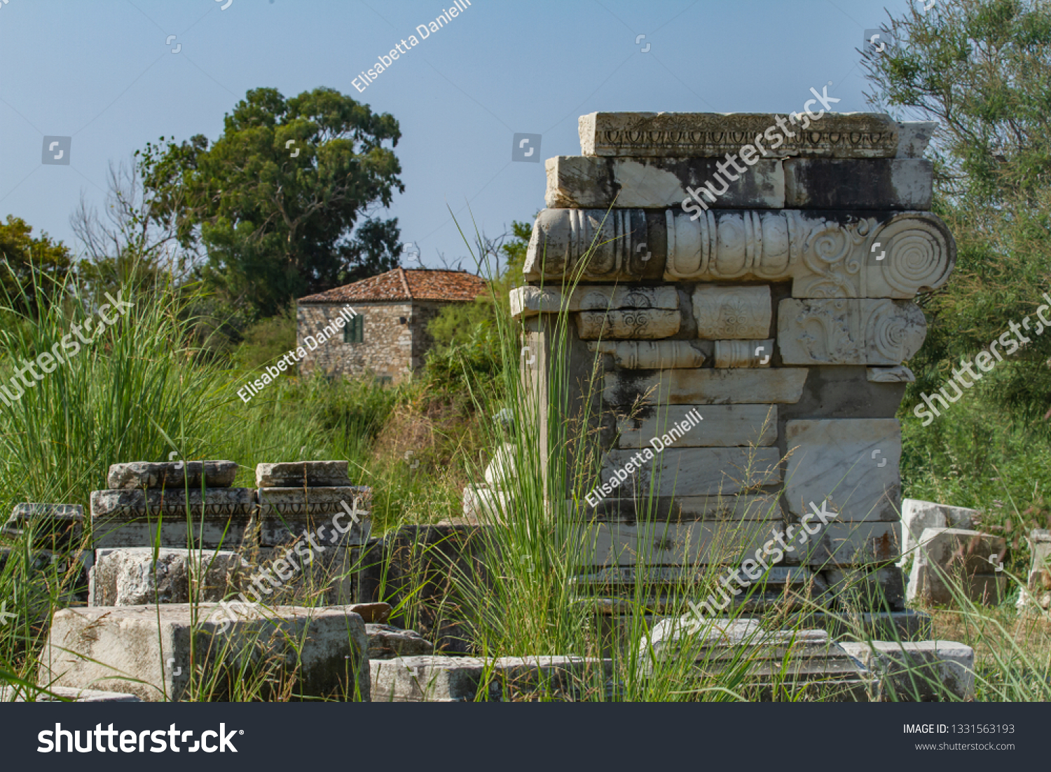 Archaeological Site Heraion Home Temple Hera Stock Photo Edit Now 1331563193