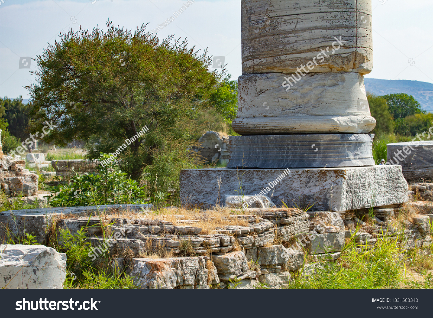 Archaeological Site Heraion Home Temple Hera Stock Photo Edit Now 1331563340