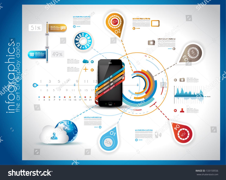 Infographic Template Cloud Computing Data Rapresentation Stock ...