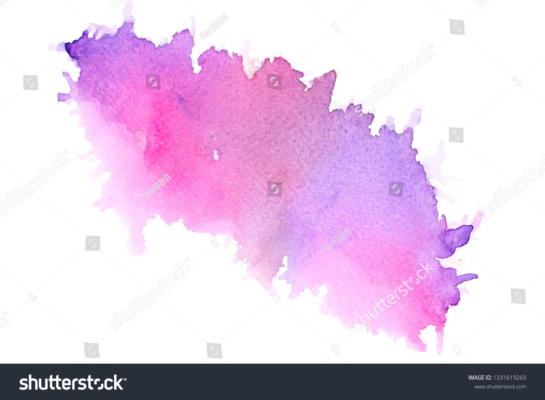Image Purple Watercolor Painting Ideas Techniques Stock Illustration 1331619269