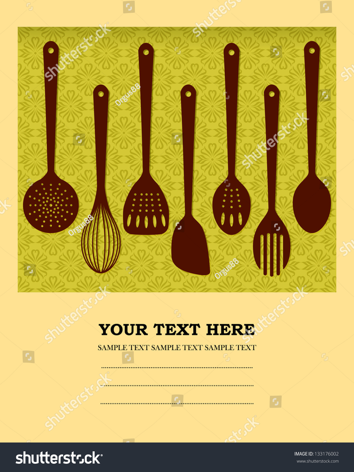 Cookbook Covers Design ~ Vector cooking book cover design stock