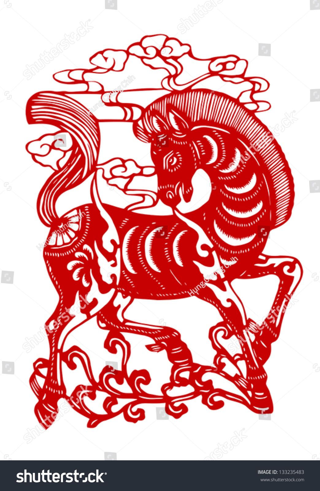 Silhouettes of chinese zodiac animals — Stock Vector