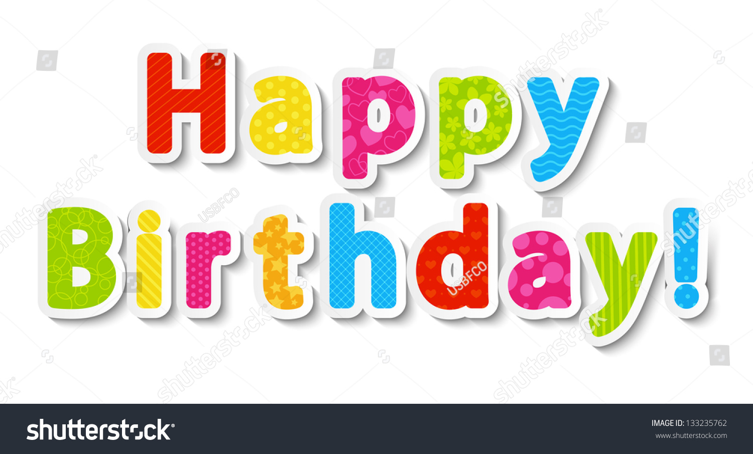 happy birthday letters images happy birthday color paper letters stock vector 17589 | stock vector happy birthday color paper letters 133235762