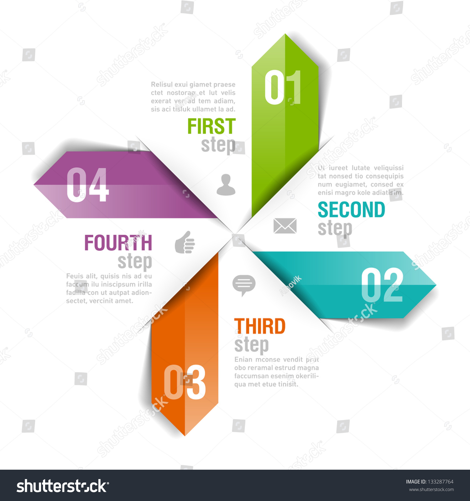 Infographics Template Fully Editable Vector Stock Vector 133287764 ...