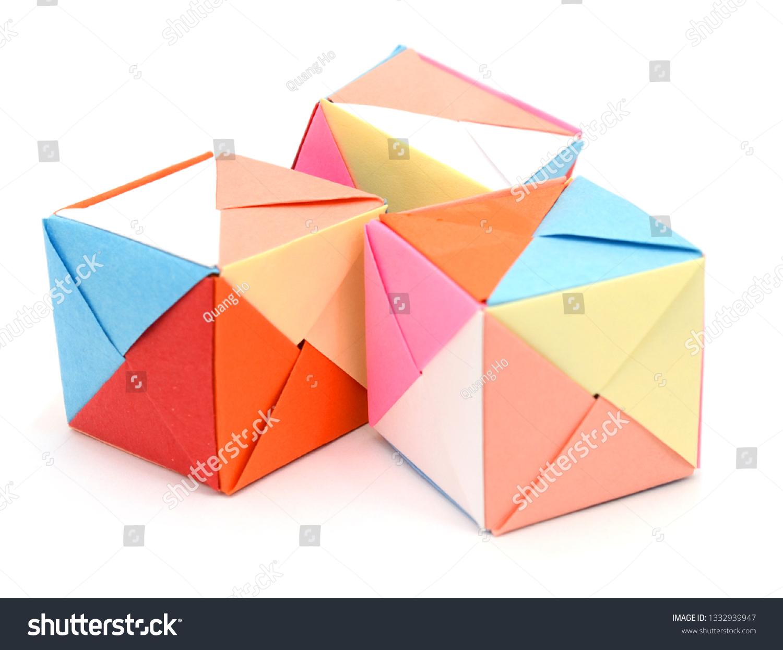 Origami Cube Gift Box / Flag Box | 1245x1500