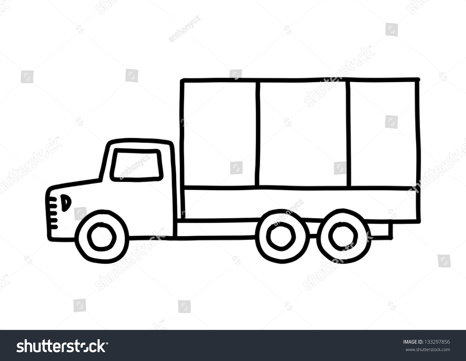 Old car outline drawing 14