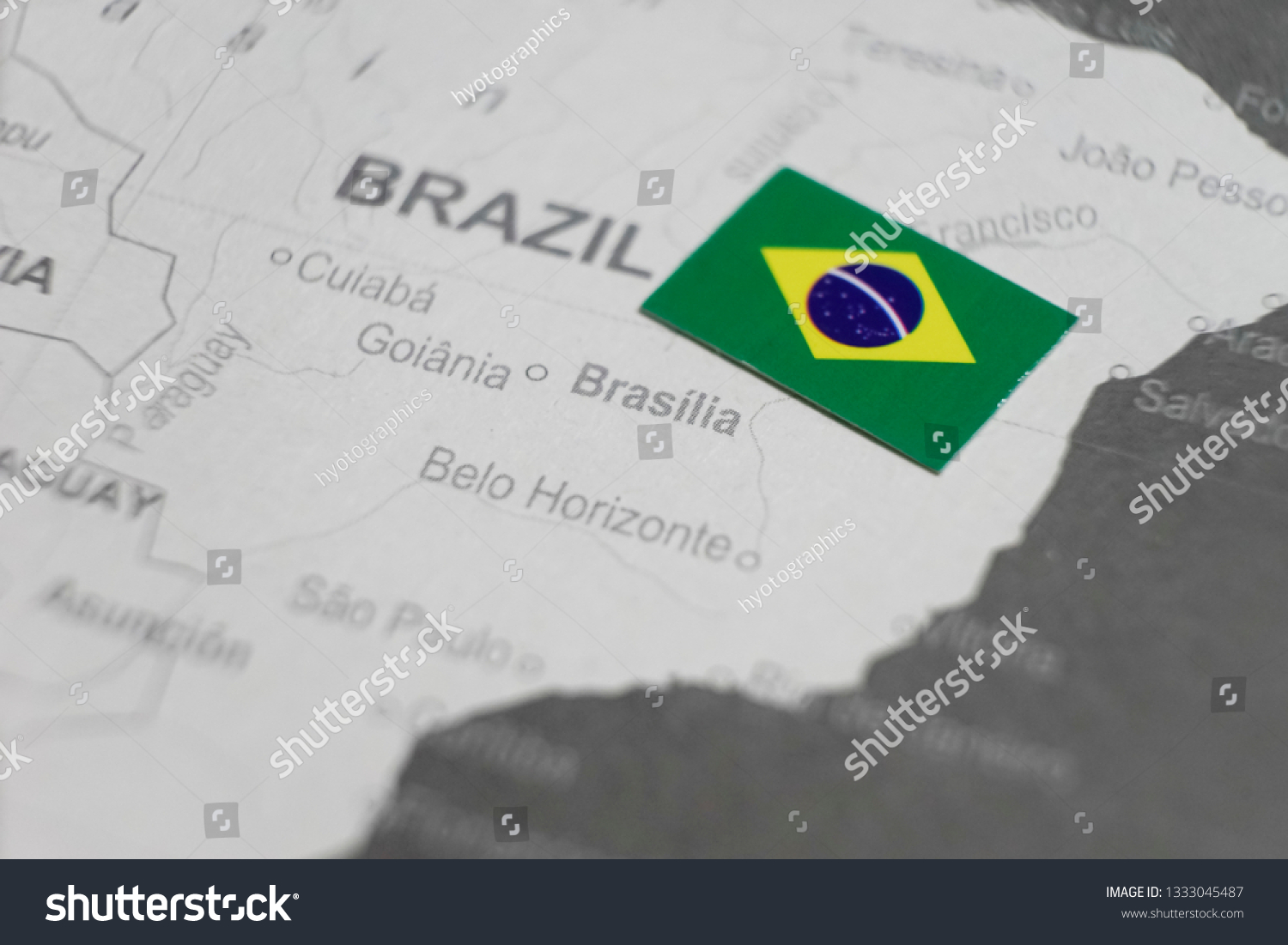 Picture of: Brazilian Flag Placed On Brasilia Map Stock Photo Edit Now 1333045487
