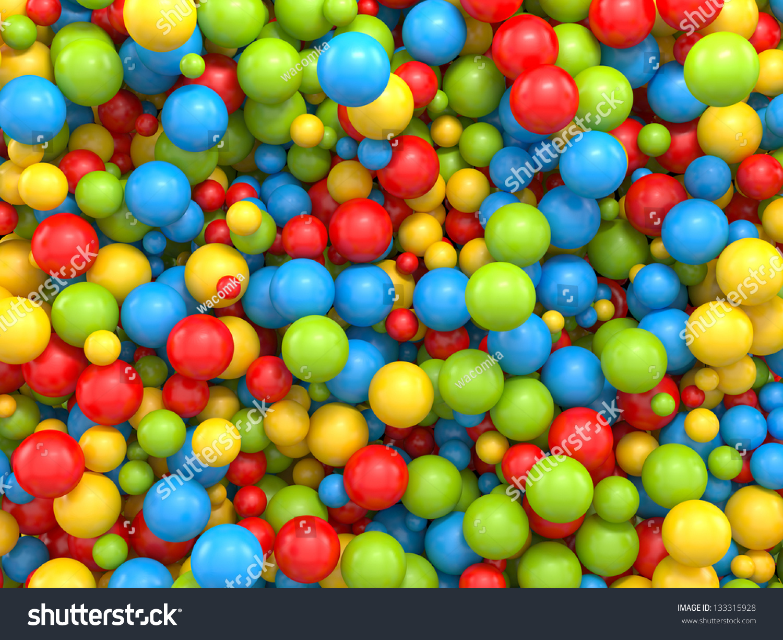 3d Color Mix Different Sizes Balls Stock Illustration 133315928 ...