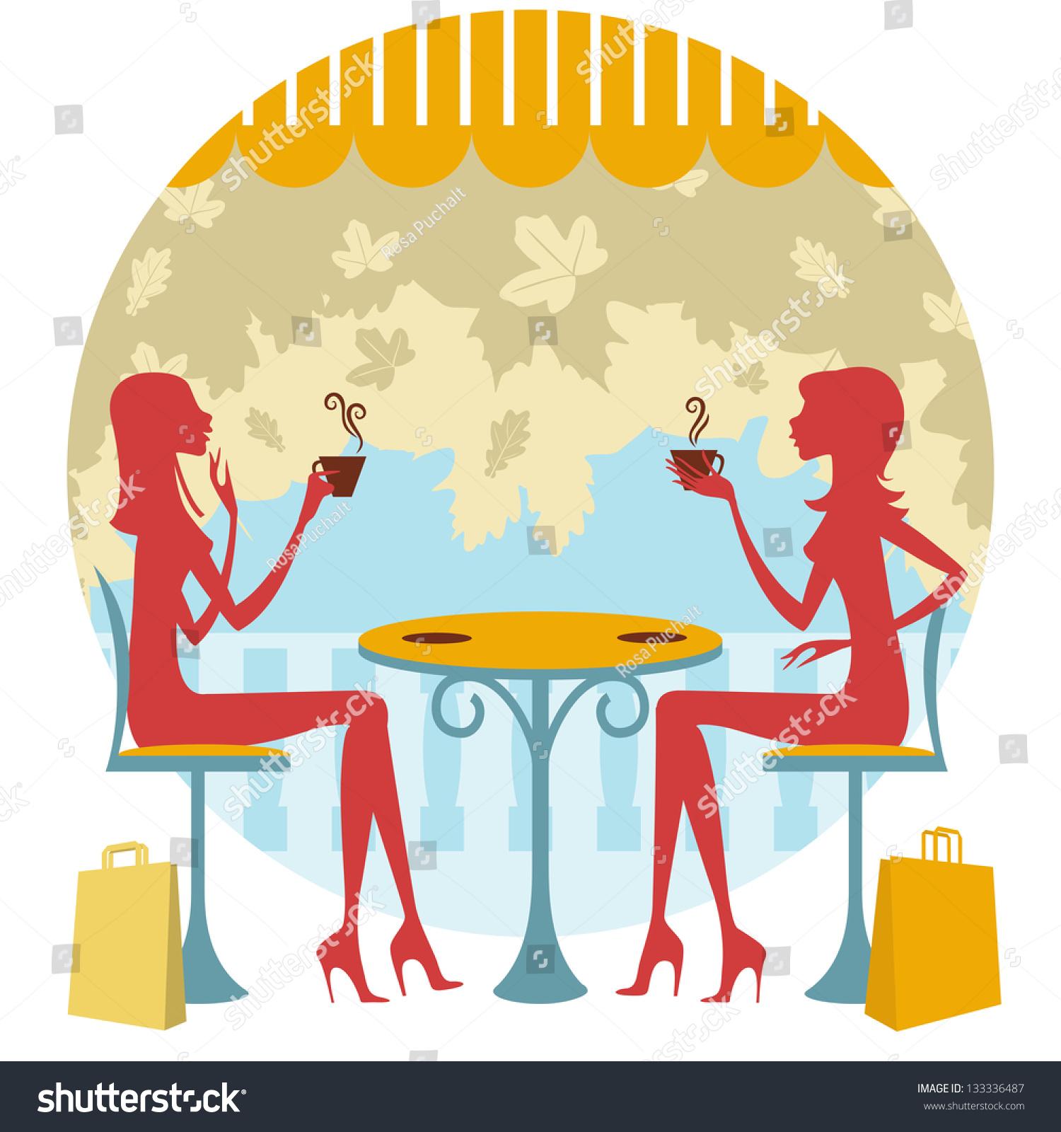 Friends Drinking Coffee Or Tea Stock Photo 133336487 ...