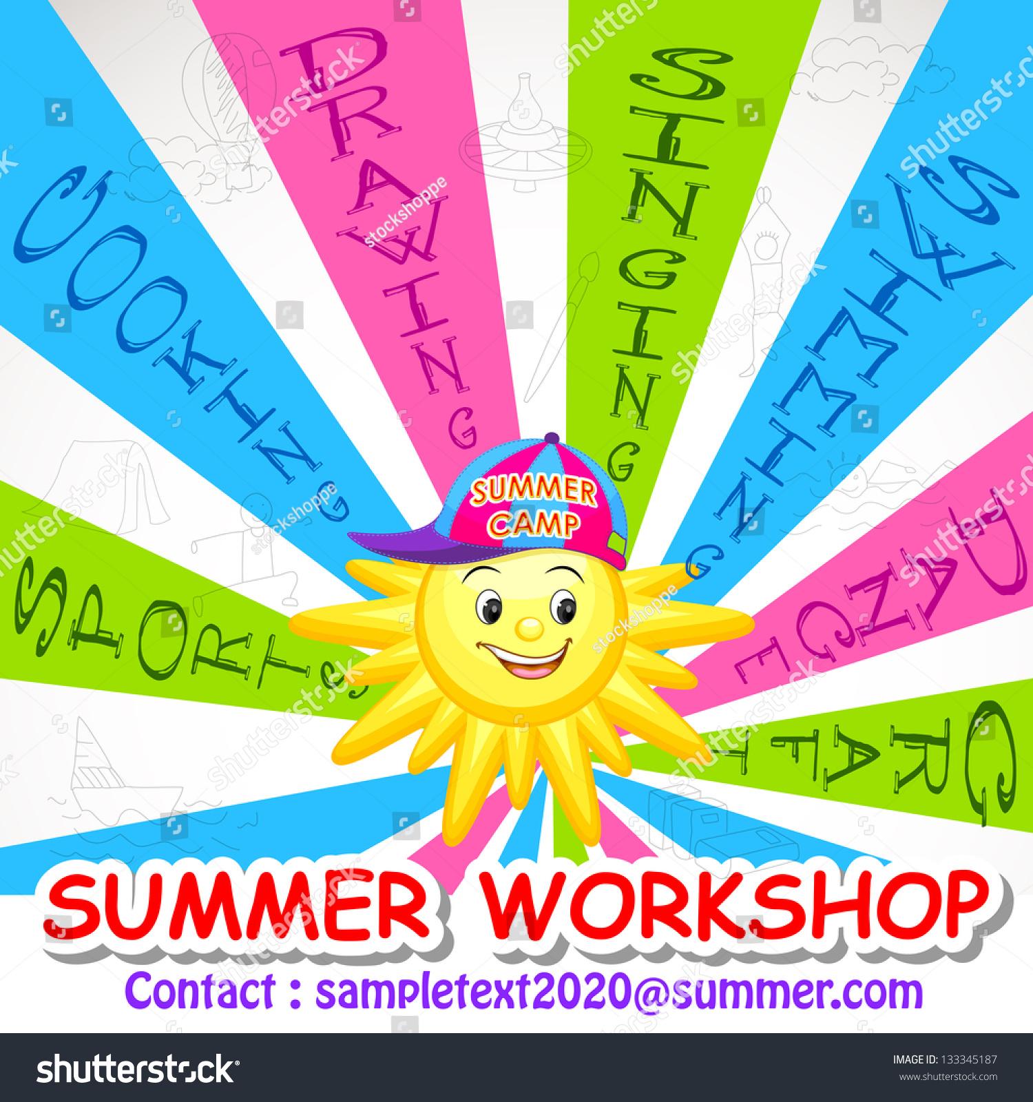 Poster design workshop - Vector Illustration Of Poster Design For Summer Art Workshop