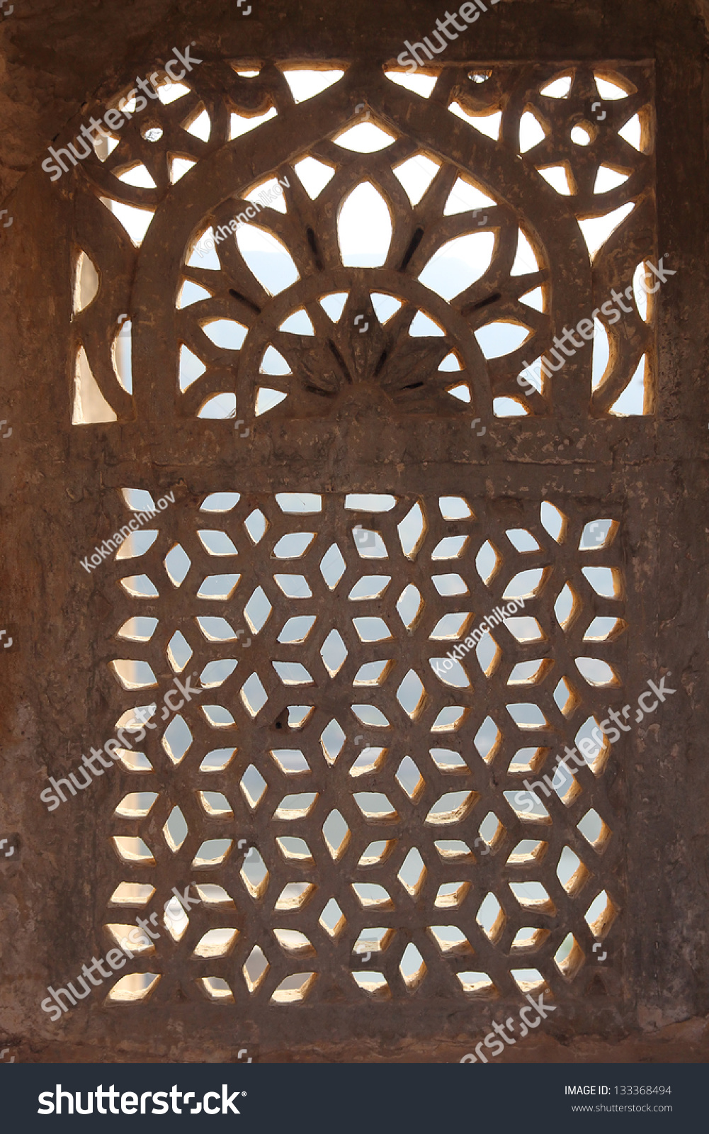 ornament lattice window rajasthan india stock photo edit now