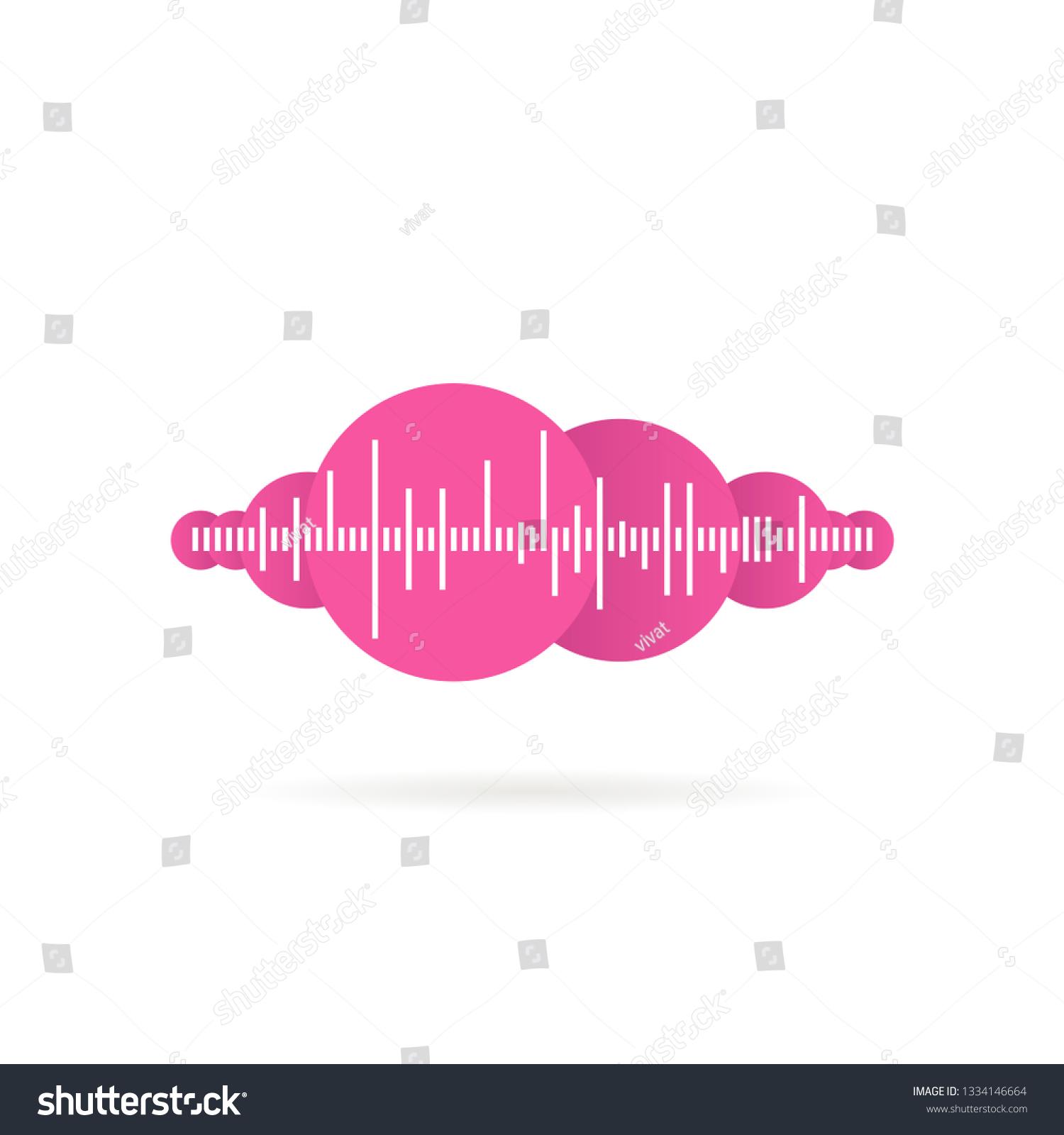 Sound Wave Music Logo Shadow Vector Stock Vector (Royalty