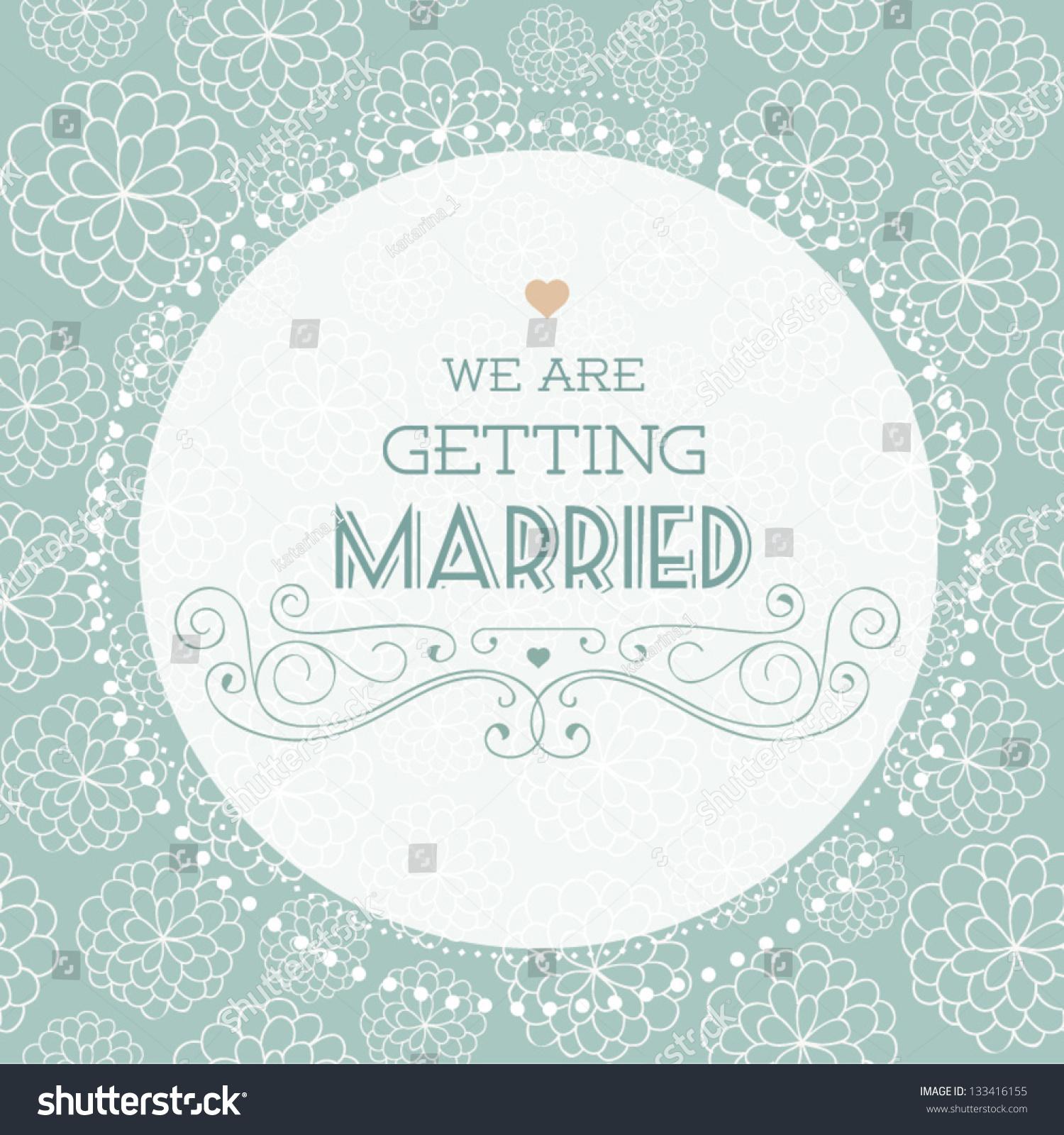Royalty-free Vector illustration. Wedding invitation… #133416155 ...