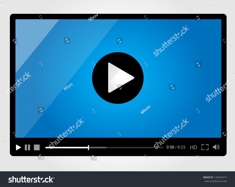 Video Player Web Minimalistic Design Stock Vector ...