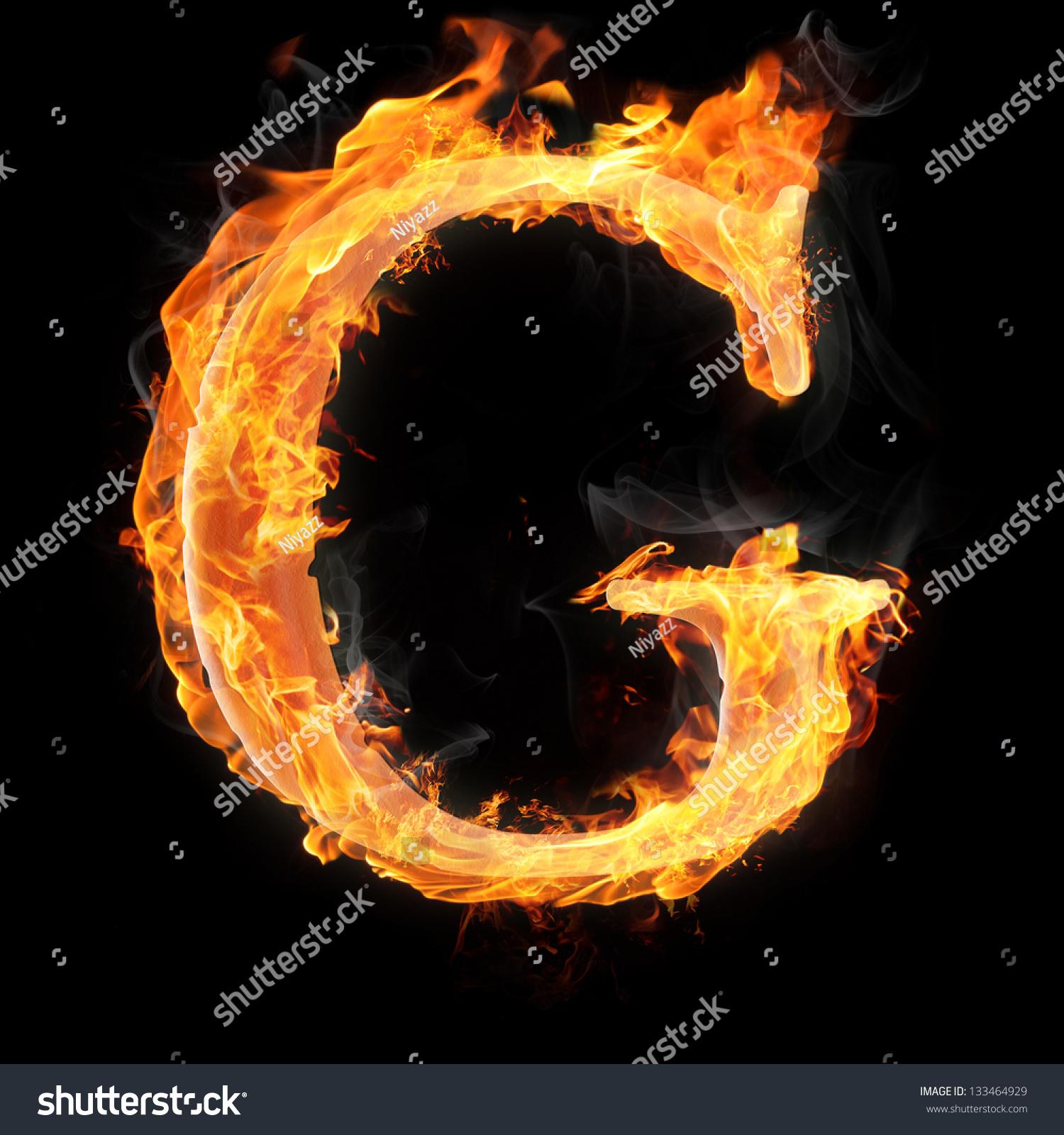 Letters Symbols Fire Letter G Stock Illustration 133464929