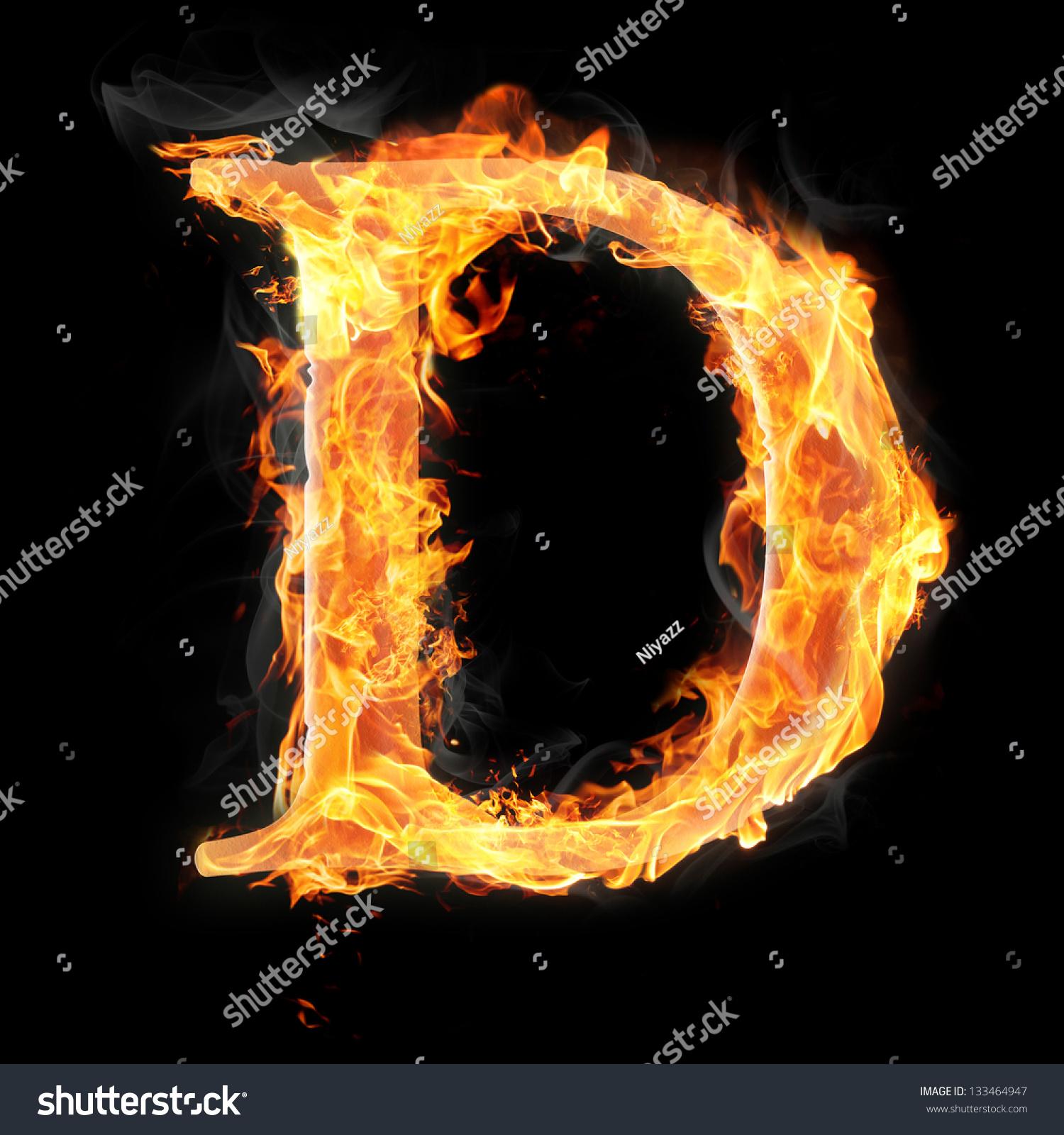 letters symbols fire letter d stock illustration 133464947 letters and symbols in fire letter d