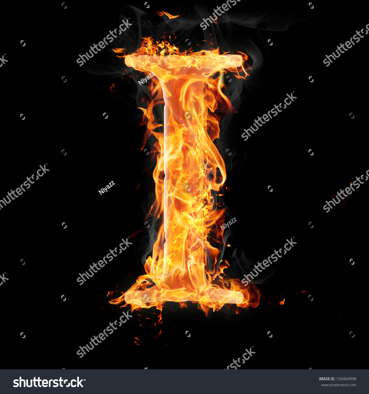 Letters symbols fire letter i stock illustration 133464998 letters and symbols in fire letter i biocorpaavc