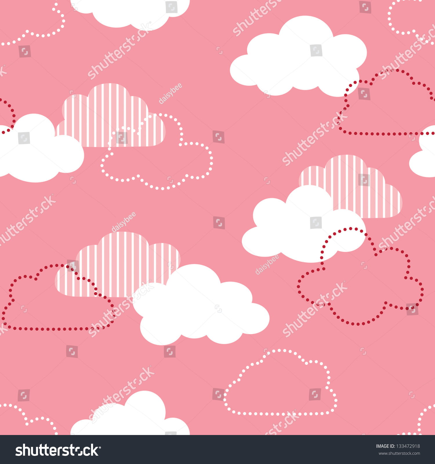 How to scrapbook good - Jpeg Seamless Vintage Cloud Pattern Good For Baby Shower Birthday Scrapbook Greeting