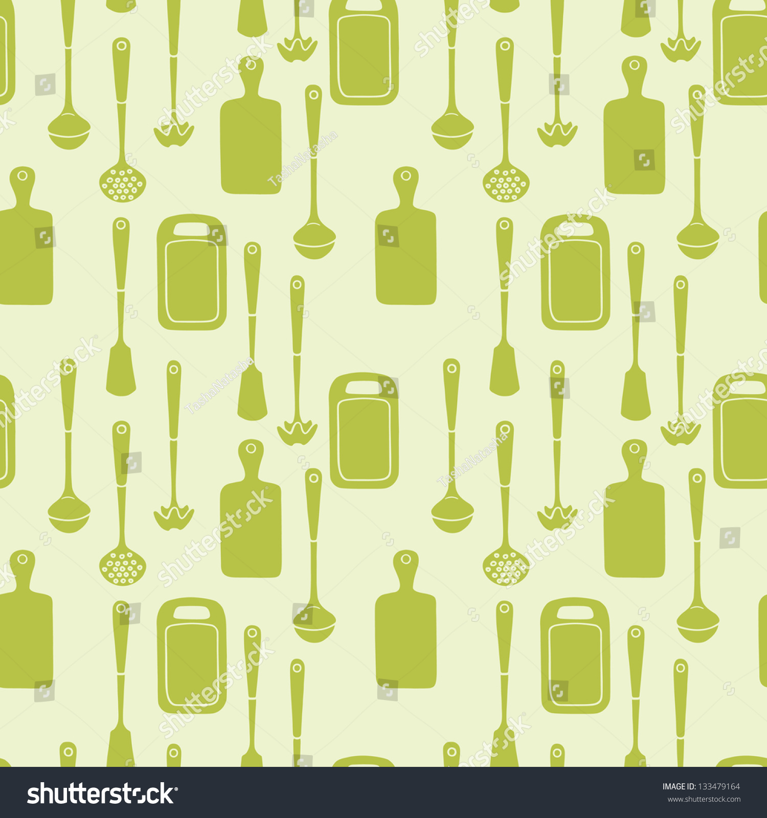 Seamless Pattern With Kitchen Utensils Vector Background 133479164